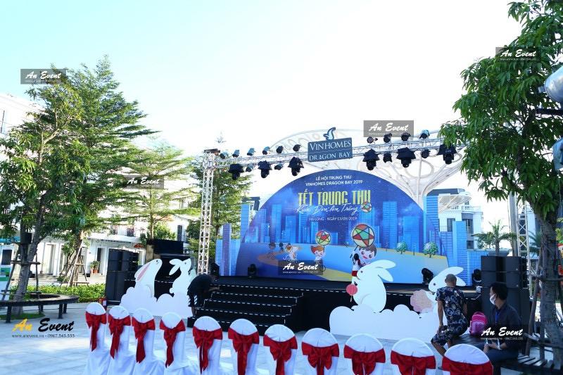 Cho thuê sân khấu backdrop trung thu Vinhomes Dragon Bay